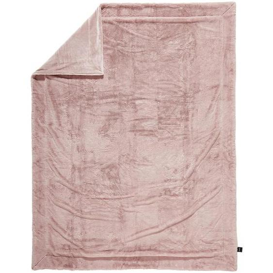 Novel Felldecke 150/200 cm Rosa , Textil , Uni , 150x200 cm