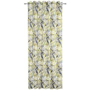 Novel Fertigvorhang blickdicht 134/245 cm , Blau, Grau, Mehrfarbig, Weiß , Textil , Floral , 134x245 cm