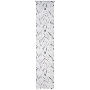 Novel Flächenvorhang halbtransparent 60/245 cm , Braun , Textil , Abstraktes , 60x245 cm