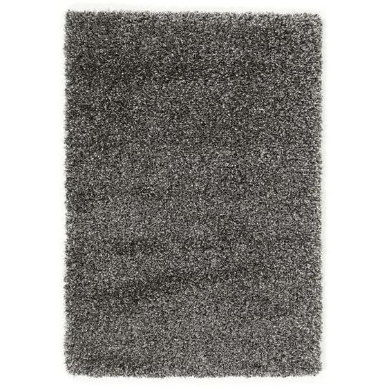 Novel Hochflorteppich 120/170 cm gewebt Grau , Textil , Uni , 120x170 cm
