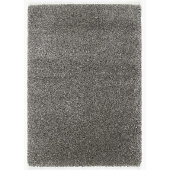 Novel Hochflorteppich 160/230 cm gewebt Grau , Textil , Uni , 160x230 cm