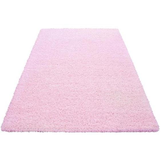 Novel Hochflorteppich 160/230 cm gewebt Rosa , Textil , Uni , 160x230 cm