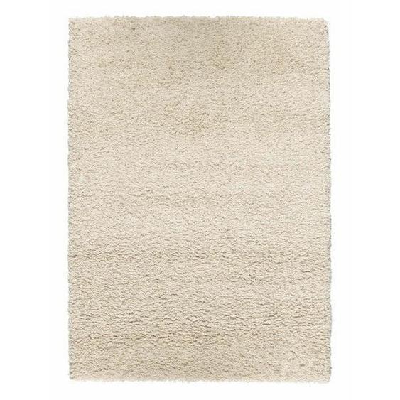 Novel Hochflorteppich 200/250 cm gewebt Beige , Textil , Uni , 200x250 cm
