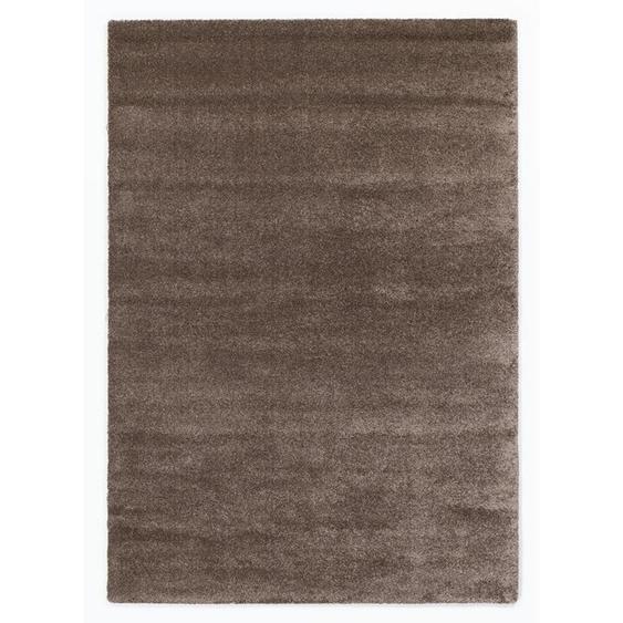 Novel Hochflorteppich 200/290 cm gewebt Braun , Textil , Uni , 200x290 cm