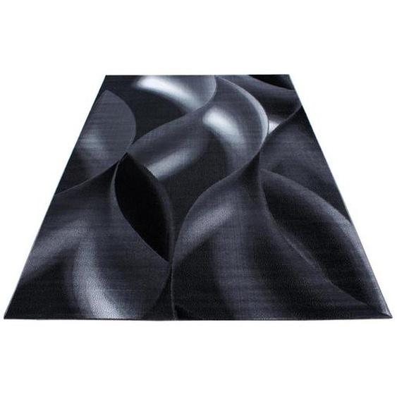 Novel Hochflorteppich 200/290 cm gewebt Schwarz , Textil , Uni , 200x290 cm