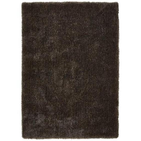 Novel Hochflorteppich 200/290 cm Grau , Textil , Uni , 200x290 cm
