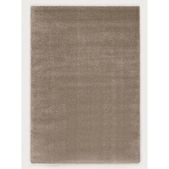 Novel Hochflorteppich 240/290 cm gewebt Beige , Textil , Uni , 240 cm