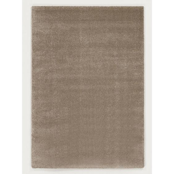 Novel Hochflorteppich 240/290 cm gewebt Beige , Textil , Uni , 240x290 cm