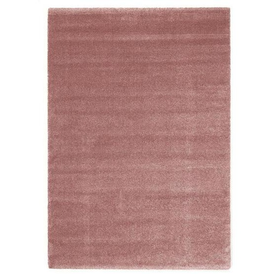 Novel Hochflorteppich 240/340 cm gewebt Rosa , Textil , Uni , 240x340 cm