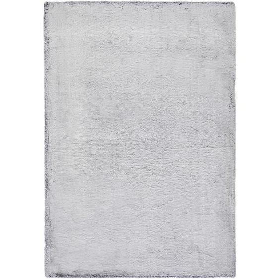 Novel Hochflorteppich 80/150 cm getuftet Grau , Textil , 80x150 cm