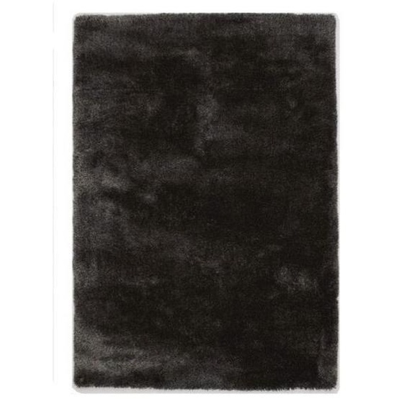 Novel Hochflorteppich 80/150 cm Grau , Textil , Uni , 80x150 cm