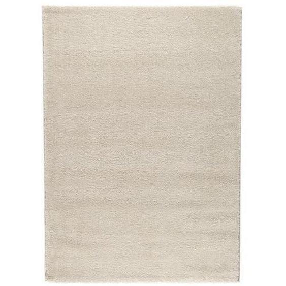 Novel Hochflorteppich 80/200 cm Beige , Textil , Uni , 80x200 cm