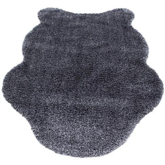 Novel Kunstfell 133/190 cm Grau , Textil, Fell , 133 cm