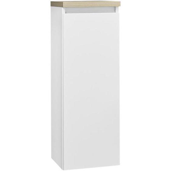 Novel Midischrank Weiß, Braun , Glas , 2 Fächer , 30x85.8x30 cm
