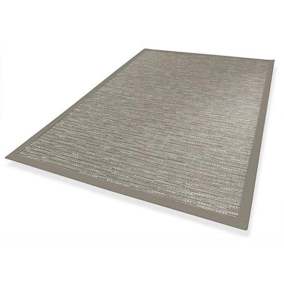 Novel Outdoorteppich In-/ Outdoor 200/290 cm Grau , Textil , Streifen , 200 cm