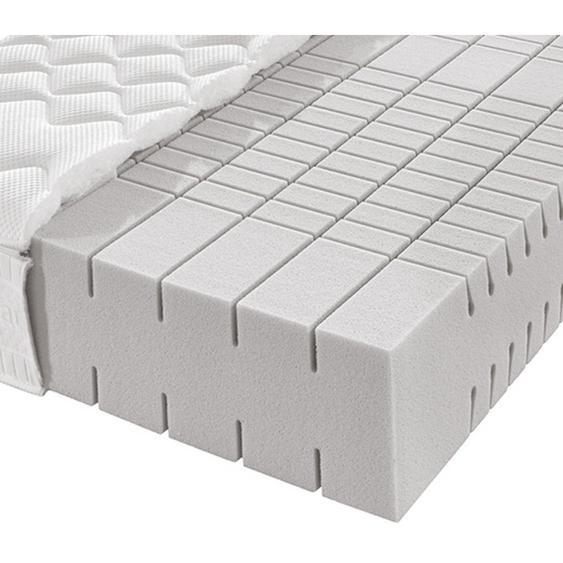Novel Partnermatratze Kaltschaum Höhe ca. 21 cm , Weiß , Textil , H2+H3=mittel bis ca.80kg+fest ab ca.80kg , 180x200 cm