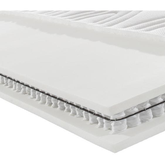 Novel Partnermatratze Taschenfeder Höhe ca. 26,0 cm , Weiß , Textil , H4+H4=sehr fest ab ca.100kg , 180x200 cm