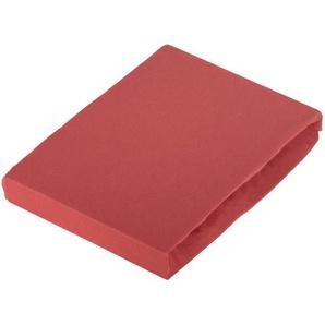 Novel: Spannbetttuch, Rot, B/H 180 200