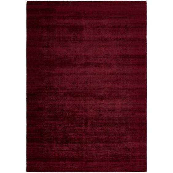 Novel Teppich 200/290 cm Rot , Textil , Uni , 200 cm