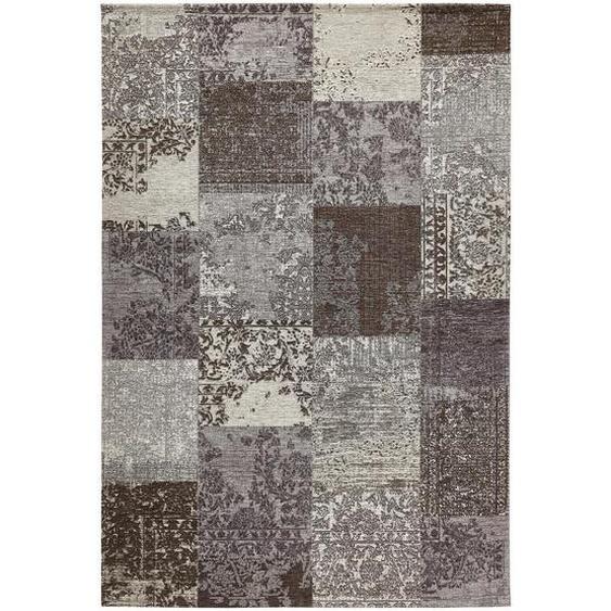 Novel Vintage-Teppich 155/230 cm Grau , Textil , Patchwork , 155x230 cm