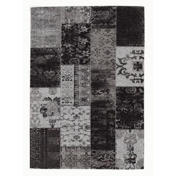 Novel Vintage-Teppich 170/240 cm Grau , Textil , Uni , 170 cm