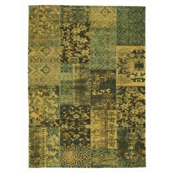 Novel Vintage-Teppich 250/300 cm Grün , Textil , Patchwork , 250x300 cm