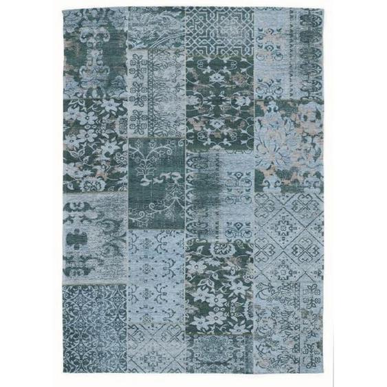 Novel Vintage-Teppich 90/160 cm Türkis , Textil , Patchwork , 90x160 cm