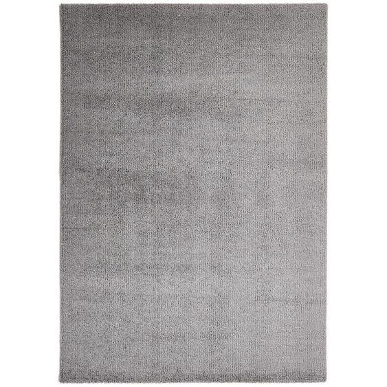 Novel Webteppich 120/170 cm Grau , Textil , Uni , 120 cm