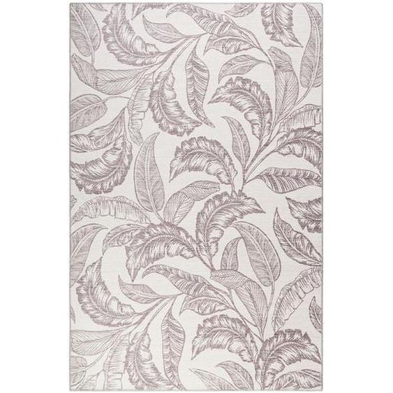 Novel Webteppich 130/190 cm Braun, Beige , Textil , Abstraktes , 130 cm