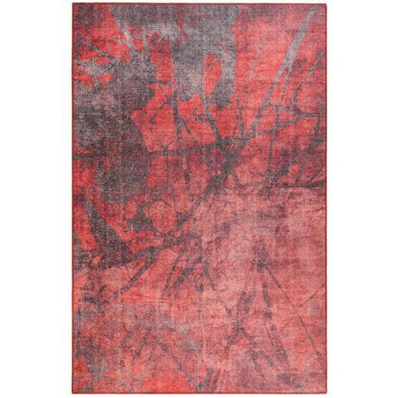 Novel Webteppich 190/290 cm Rot, Rotbraun , Textil , Abstraktes , 190 cm