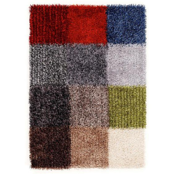 Novel Webteppich 200/250 cm Mehrfarbig , Mehrfarbig , Textil , Patchwork , 200 cm