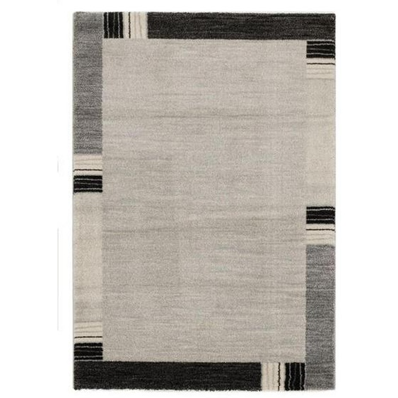 Novel Webteppich 200/290 cm Grau , Textil , Graphik , 200 cm