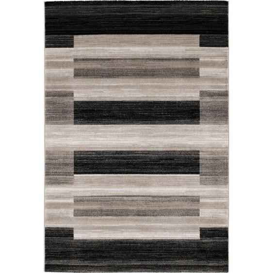 Novel Webteppich 200/290 cm Grau , Textil , Patchwork , 200 cm