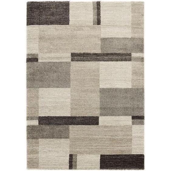 Novel Webteppich 65/130 cm Braun, Beige , Textil , Abstraktes , 65 cm