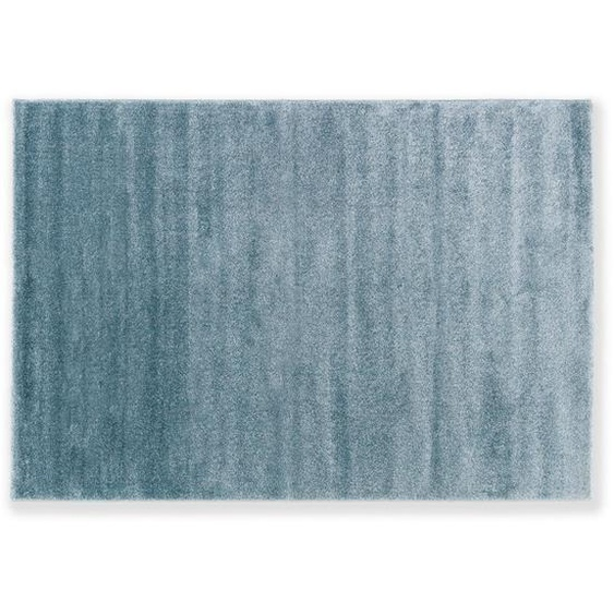 Novel Webteppich 80/150 cm Türkis , Textil , Uni , 80 cm
