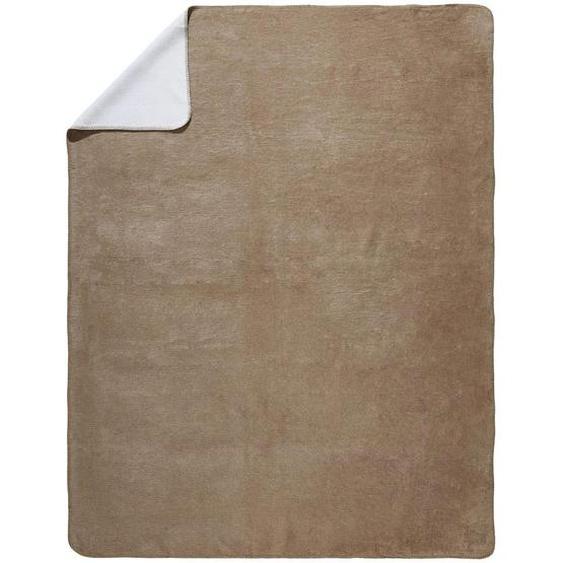 Novel Wohndecke 150/200 cm Beige , Textil , Uni , 150x200 cm