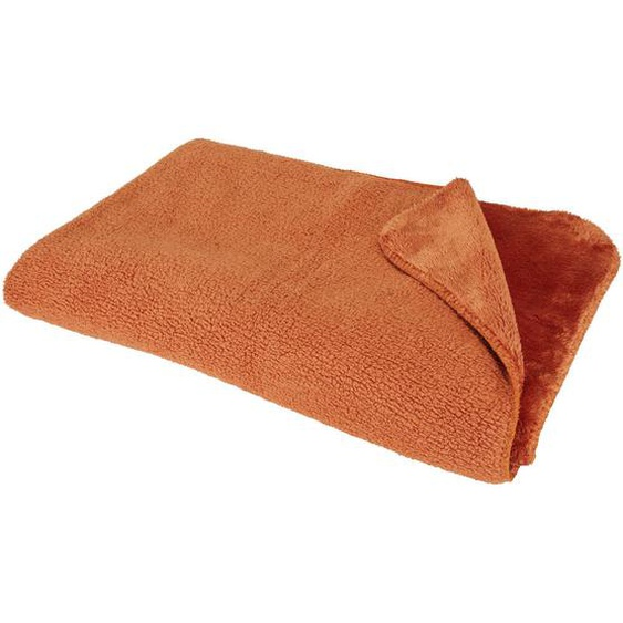 Novel Wohndecke 150/200 cm Braun , Textil , Uni , 150x200 cm