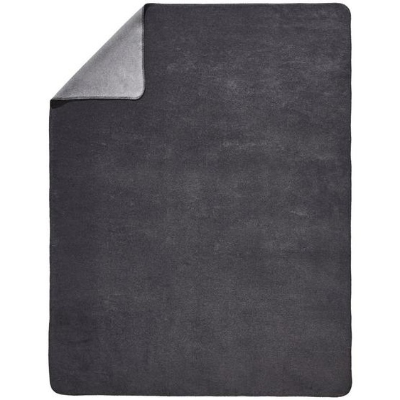 Novel Wohndecke 150/200 cm Grau, Grau , Textil , Uni , 150x200 cm