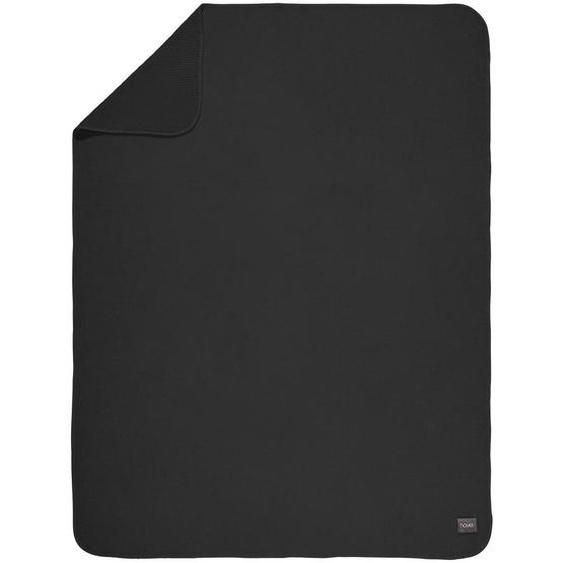 Novel Wohndecke 150/200 cm Schwarz , Textil , Uni , 150 cm , Textiles Vertrauen - Oeko-Tex® , Heimtextilien, Wohntextilien, Woll- & Kuscheldecken