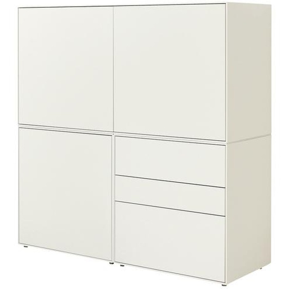 now! by hülsta Highboard 3-teilig  now! easy ¦ weiß