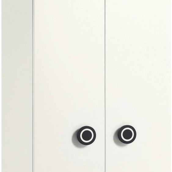 now by hülsta Kleiderschrank minimo, mit schwarzen Augengriffen und Schublade, Breite 90 cm x 194 53 (B H T) cm, 2-türig weiß Kinder Kinderschränke Kindermöbel Schränke