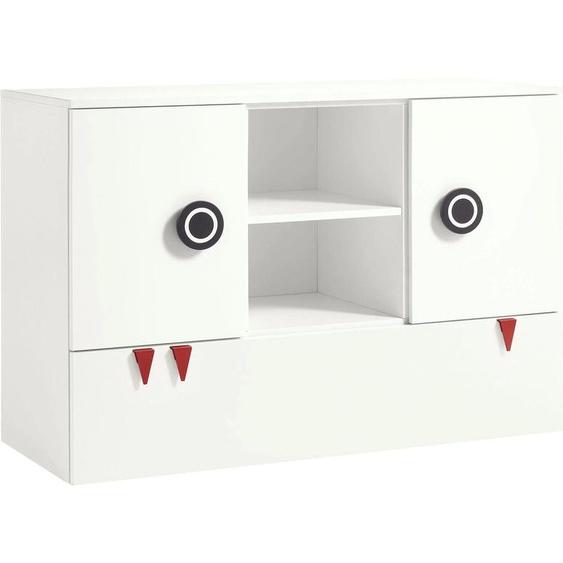now by hülsta Kommode minimo, mit offenen Fächern B/H/T: 135 cm x 95 53 cm, Anzahl weiß Baby Wickelkommoden wickeln
