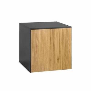 now! by hülsta now! to go Box 37,5x39x37,5cm Schiefergrau/Natureiche