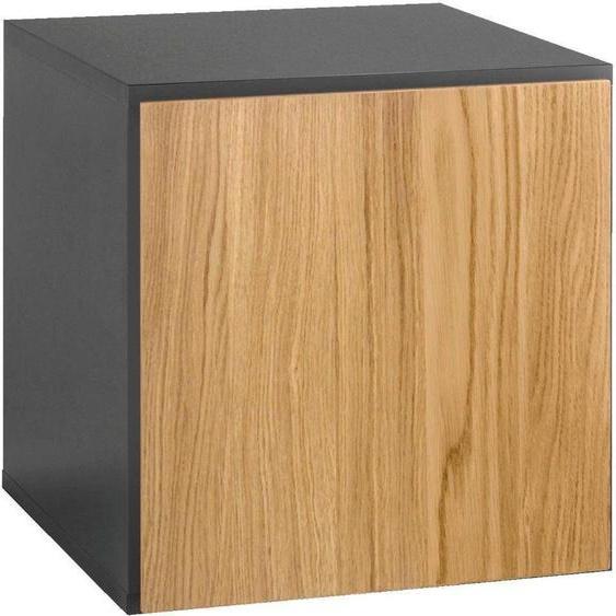 Regalelement »now! to go«, 37.5x37.5x39 cm (BxHxT), now! by hülsta, braun, Material Holzwerkstoff, Metall, Soft-Close-Funktion, Hochglanz