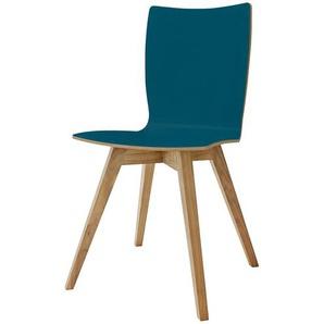 now! by hülsta Schalenstuhl  S 20-3 ¦ türkis/petrol ¦ Maße (cm): B: 45 H: 88 T: 45 Stühle  Holzstühle » Höffner