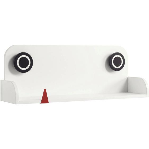 now by hülsta Wandboard minimo, mit rotem Zähnchen 90x23x32 cm weiß Kinder Kinderregale Kindermöbel Regale
