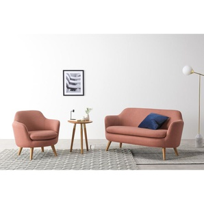 Nya 2-Sitzer Sofa, Zartrosa