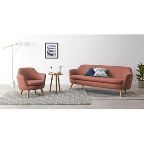 Nya 3-Sitzer Sofa, Zartrosa