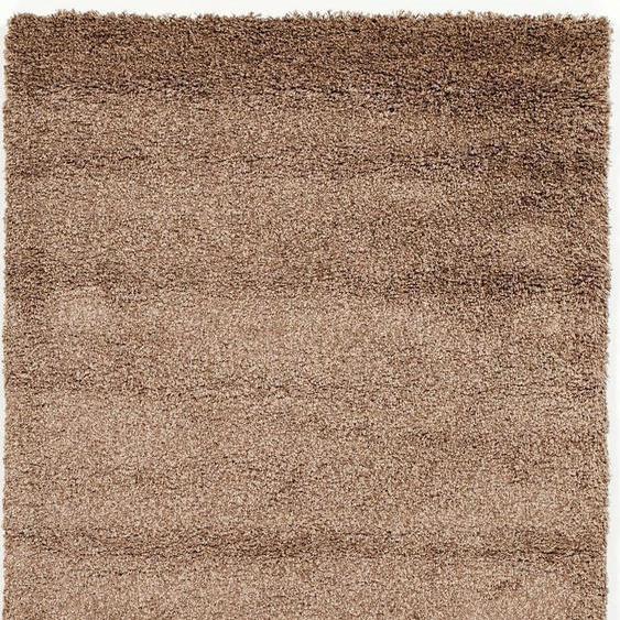 OCI DIE TEPPICHMARKE Hochflor-Teppich Lobby Shaggy, rechteckig, 52 mm Höhe, Wohnzimmer B/L: 240 cm x 340 cm, 1 St. braun Esszimmerteppiche Teppiche nach Räumen