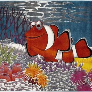 OCI DIE TEPPICHMARKE Kinderteppich Kidsclub Memo, rechteckig, 13 mm Höhe, Aquarium Fisch, Kinder Kurzflor Teppich B/L: 140 cm x 200 cm, 1 St. bunt Bunte Kinderteppiche Teppiche